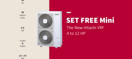 Hitachi New Set Free Mini VRF Systems Launch